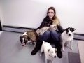 Hannah with Charley, Maggie, Copper and Brady
